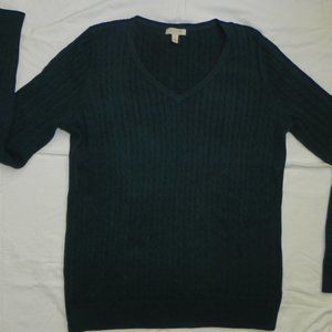 Talbots V-Neck Cableknit Sweater